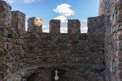 Murs en pierre d'un château médiéval Ville de Consuegra dans le provi Photos stock