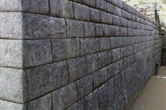 Murs en pierre Machu Picchu Peru South America photographie stock