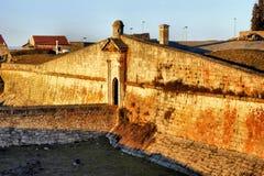 Murs enrichis par village historique d'Almeida Image libre de droits