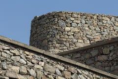 Murs et ciel bleu Image libre de droits