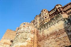 Murs et différentes parties de fort de Mehrangarh, Ràjasthàn Photos stock