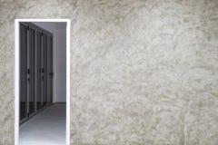 Murs et portes et concept de construction de l'espace dans la maison de construction Photo libre de droits
