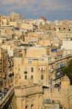Murs et rues antiques de La Valette Photographie stock libre de droits