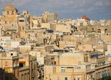 Murs et rues antiques de La Valette Images libres de droits