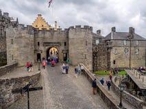 Murs extérieurs de Stirling Castle Images libres de droits