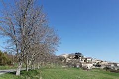 A village in Luberon regional park. MURS, FRANCE, April 6, 2018 : Luberon region is a favourite destination for French, British and American visitors because of Stock Images