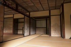 Murs intérieurs japonais de maison décorés par Tanyu Kano Image libre de droits