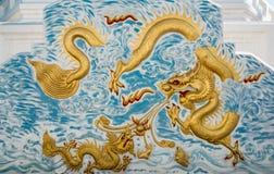 Murs latéraux du dragon Image stock