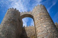 Murs médiévaux de ville, Avila, Castille y Léon, Espagne image stock