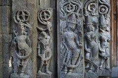 Murs ornement?s, temple de Daitya Soudan, Lonar, secteur de Buldhana, maharashtra, Inde photographie stock libre de droits