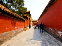 Murs rouges à l'intérieur de Pékin Cité interdite Photographie stock libre de droits
