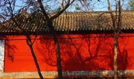 Murs rouges Image libre de droits