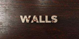 Murs - titre en bois sale sur l'érable - image courante gratuite de redevance rendue par 3D illustration libre de droits