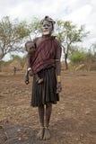 有孩子的非洲妇女 图库摄影