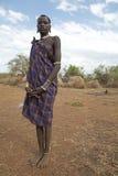 有身体纹身花刺的非洲妇女 库存照片