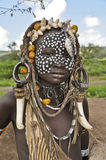 Mursi boy Stock Photos