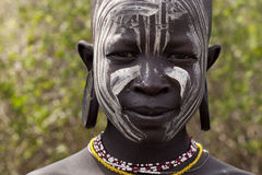 Mursi boy. Boy from Mursi tribe - Ethiopia, Africa Stock Images