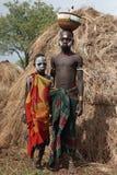 Mursi, Ethiopië, Afrika stock afbeeldingen