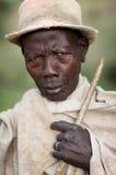 Mursi man i södra Omo, Etiopien royaltyfri foto