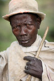 Mursi man in South Omo, Ethiopia. Royalty Free Stock Photo