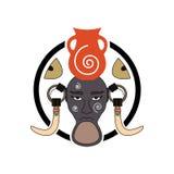 Mursi plemienia znak Obrazy Stock