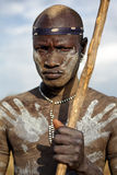 Mursi warrior in South Omo, Ethiopia Stock Photography