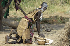 Mursi woman Stock Image