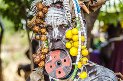 Mursi woman with lip plate Stock Image