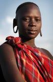 Mursivrouw in Zuiden Omo, Ethiopië Royalty-vrije Stock Afbeelding
