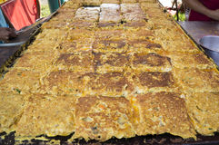 Murtabak on the Pan Royalty Free Stock Photography