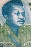 Murtala Mohammed. (1938-1976) on 20 Naira 2003 Banknote from Nigeria. Military ruler of Nigeria during 1975-1976 Stock Photography
