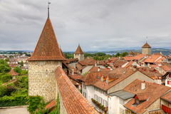 Murten old town, Switzerland Royalty Free Stock Images
