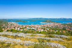 Murterstad Kroatië Stock Foto