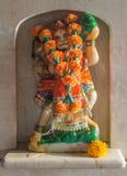 The murti of Shri Hanuman representing strength and devotion. Shri Hanuman protects the temple from evil spirits royalty free stock photo