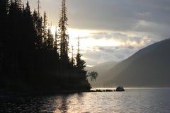 Murtle See auf Sonnenuntergang Kanada Lizenzfreies Stockfoto