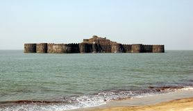 Murud-Janjira Fort situated on an oval-shaped rock off the Arabian Sea coast near the port town of Murad, 165 km or 103 mi south. Of Mumbai royalty free stock photography