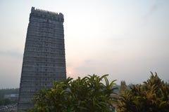 Murudeshwar希瓦寺庙和雕象-日出 免版税库存图片