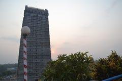 Murudeshwar希瓦寺庙和雕象-日出 库存图片