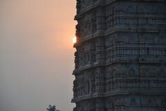 Murudeshwar希瓦寺庙和雕象 库存图片