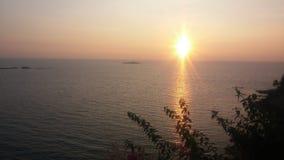 Murudeshwar海滩,卡纳塔克邦,印度 免版税库存照片