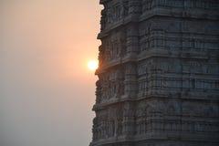 Murudeshwar Shiva Temple och staty Arkivfoto
