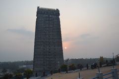 Murudeshwar Shiva Temple und Statue lizenzfreie stockbilder