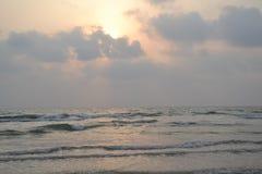 Murudeshwar strand Royaltyfri Fotografi