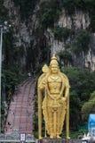 Murugan雕象和入口向黑风洞 免版税图库摄影