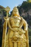 Murugan雕象,一个印度神位于巴图入口  库存照片