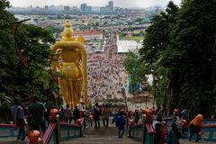 Murugan Statue,巴图洞,吉隆坡,马来西亚阁下 免版税库存照片