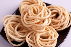 Murukku是从印度的一顿美味快餐 免版税库存图片