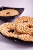 Murukku是从印度的一顿美味快餐 库存照片