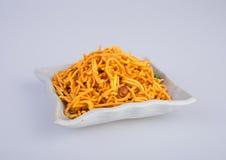 murukku oder traditionelles indisches Snack chakli und chakali auf backgr Lizenzfreie Stockfotografie
