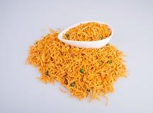 murukku oder traditionelles indisches Snack chakli und chakali auf backgr Lizenzfreies Stockfoto